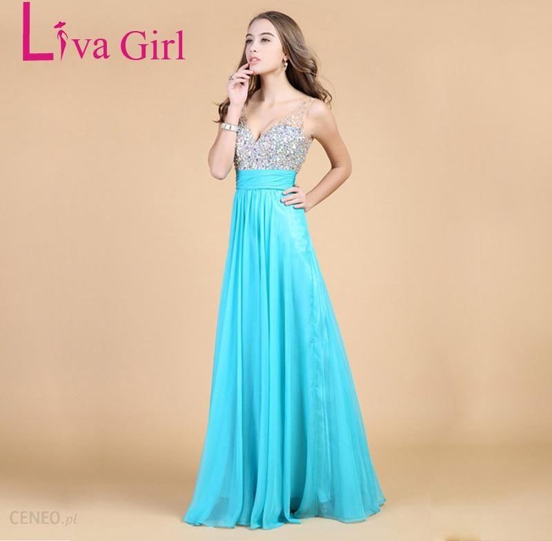 a668e758 AliExpress Liva dziewczyna Top jakości diamentów sukienka druhna szyfonu  Backless suknie V Neck sukienka na wesele Party długa sukienka w dużym ...