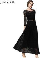 b116c95702 AliExpress Eleganckie białe sukienka 2019 nowa moda wiosna kobiety 3 4  rękawem w stylu Vintage