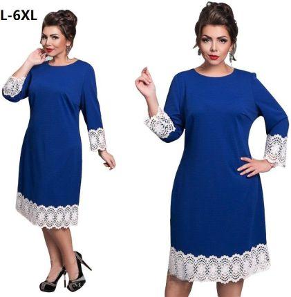 c5fcae9feb AliExpress Plus rozmiar sukienki dla kobiet 4XL 5XL 6XL elegancki koronkowy  patchwork Plus Size odzież kobiet
