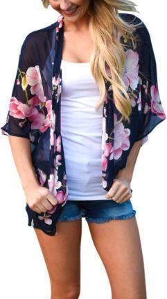 6cfc19e22317e AliExpress 2019 kobiety moda lato bluzka damska Vintage Floral Print  szyfonowa kardigan kimono przepuszczalność dorywczo Cover