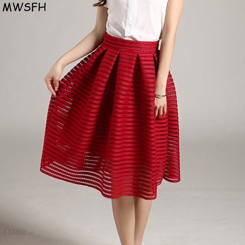 e4f45a44 AliExpress MWSFH Lato Nowy Styl Sexy Moda Spódnica kobiety Striped  Hollow-out Puszyste Spódnica Spódnice Huśtawka Panie Black Red Ball długa  ...