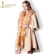 AliExpress LVCHI 2019 prawdziwe płaszcze z futra norek
