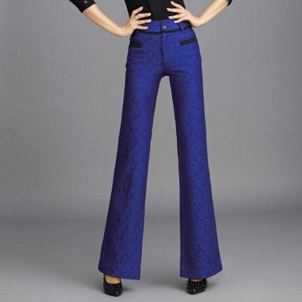 541d1b4479 AliExpress 2019 nowa wiosna i jesień dorywczo mody plus size koronki kobiet  kobiety dziewczyny spodnie Flare