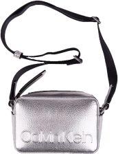 a225473f5a8d8 Calvin Klein srebrna mała torebka Edge Camera Bag Met Silver - zdjęcie 1