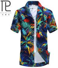AliExpress Mężczyzna Koszula Hawajska Drzewo Kokosowe  Dsidu