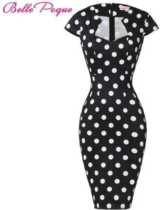 c942e6bc14 AliExpress Sexy Slim kobiety sukienka 2018 Bodycon ołówek suknie bawełniane  Plus Size 3XL Wiggle Vintage 50