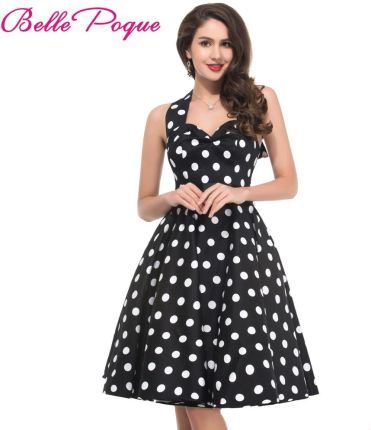 d0edbeae7f AliExpress Letnie Kobiety Ubierają Vestidos Retro 1950 s 60 s Vintage  Sukienka Polka Dots Rockabilly Pinup