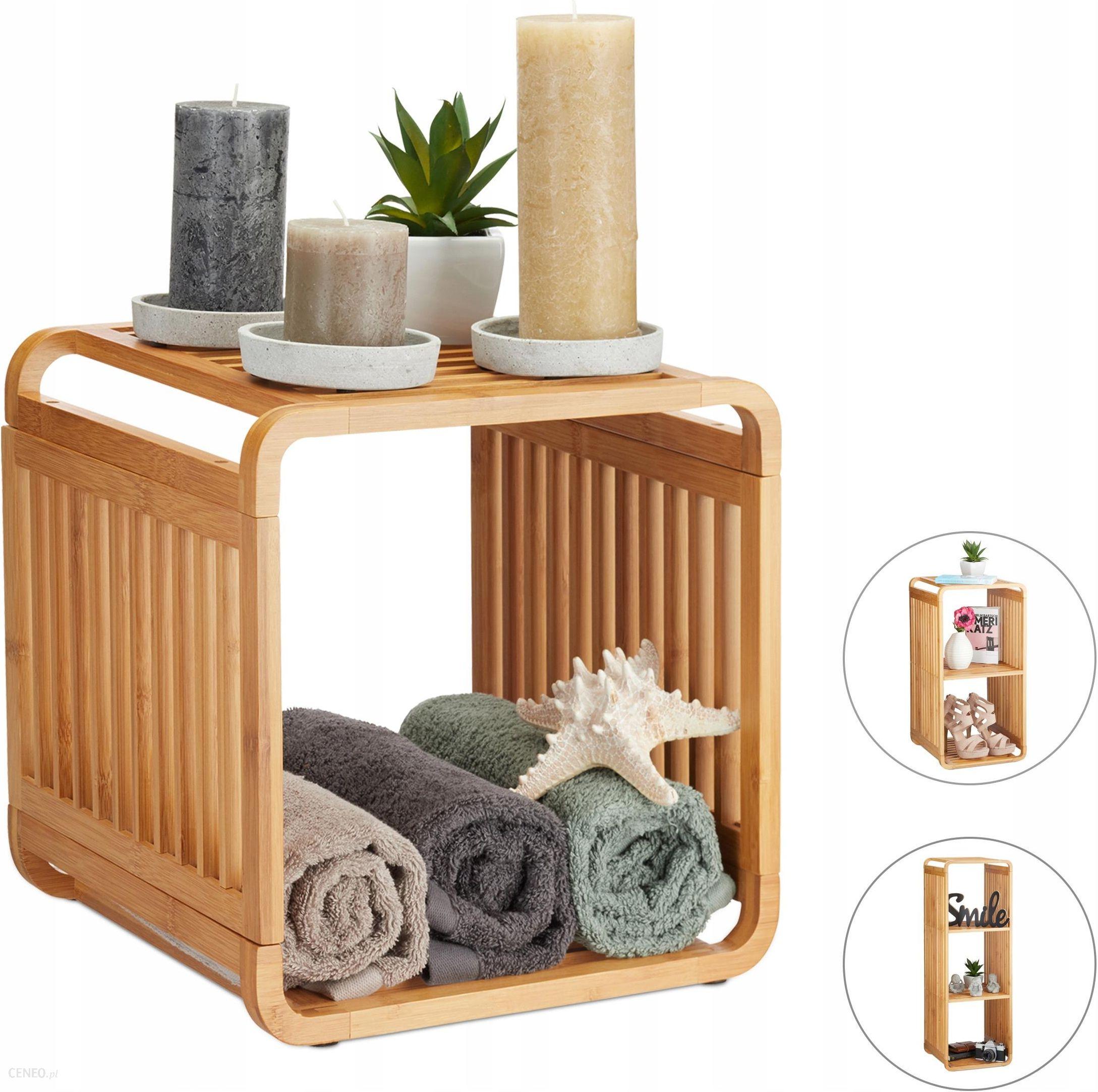 Regał łazienkowy Szafka Do Kuchni 2 Półki Bambus Opinie I Atrakcyjne Ceny Na Ceneopl