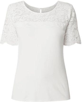 9e5480ca4d Esprit Collection T-shirt z obszyciem z kwiatowej koronki szydełkowej ...