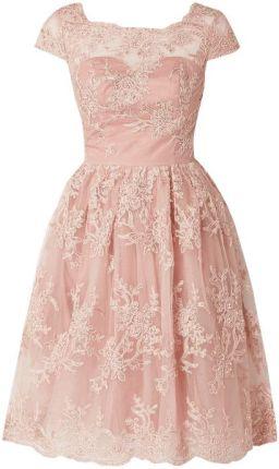 1b41e18e11 CHI CHI London Sukienka koktajlowa z tiulu z ozdobnymi perełkami ...