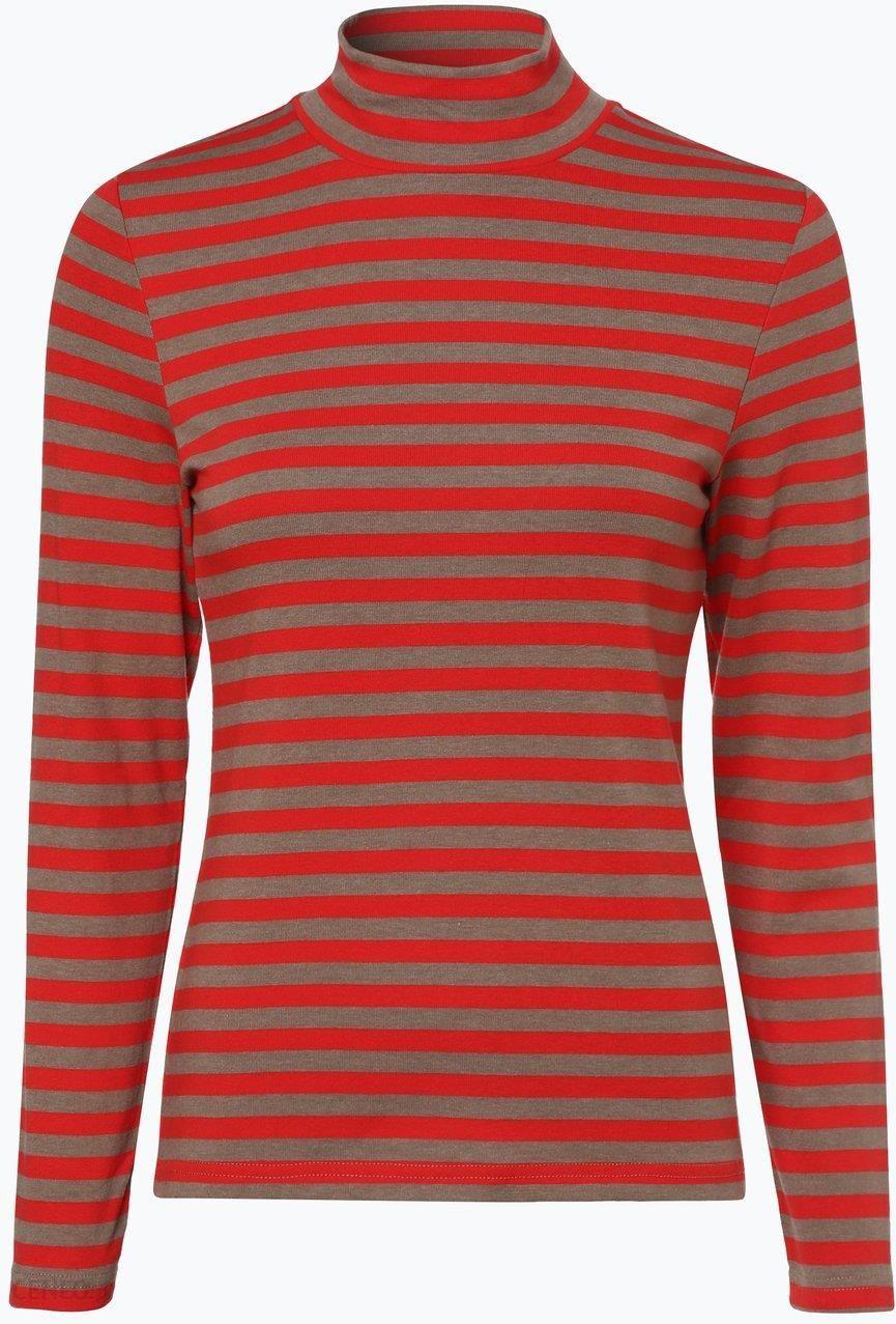 e4588e0a8d9d4b Franco Callegari - Damska koszulka z długim rękawem, pomarańczowy - zdjęcie  1