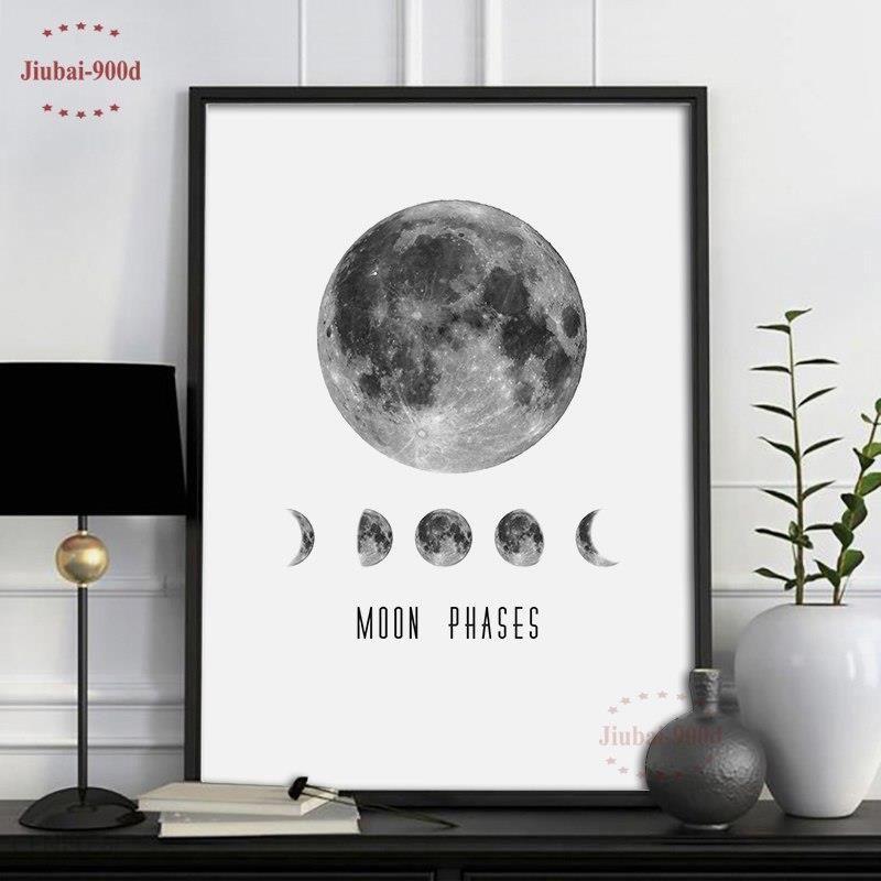 Aliexpress 900d Płótnie Malarstwo Plakat Księżyc Plakaty I Reprodukcje Obrazów ściennych Do Dekoracji Wnętrz Dekoracje Zdjęcia S16001 2 Ceneopl
