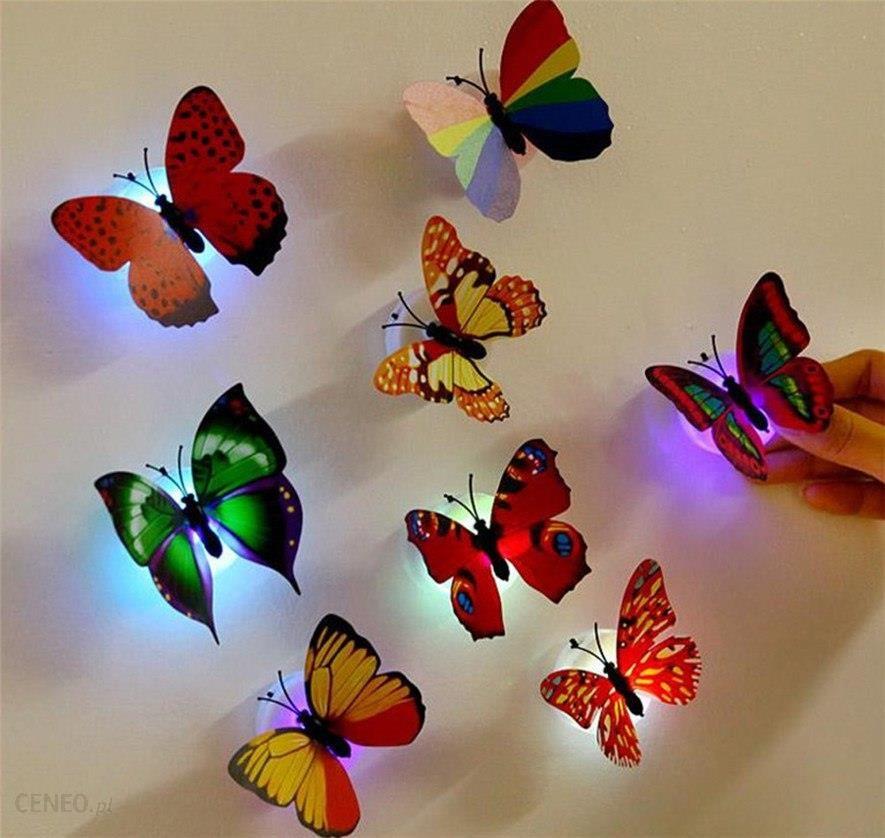 Aliexpress świecące Naklejki Motyl świetlna Lampy ścienne Tapety ścienne Naklejki 3d Dom Dekoracji Domu Dekoracji 30c0509 Ceneopl