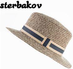 d6cfd3c7d AliExpress Sterbakov moda marka lato pure color bezpieczne kapelusz słońce  na plaży kapelusz słomkowy kapelusz mężczyźni