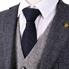 aa8306f3117aa AliExpress H34 Ciemny Niebieski Czarny Jodełkę Tweed 7 cm Wełny Mieszanka  2.76