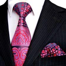 c3d706e213885 AliExpress Floral Multicolor żółty złoty różowy czerwony niebieski  turkusowy mężczyzna krawaty krawat zestaw chusteczka 100%