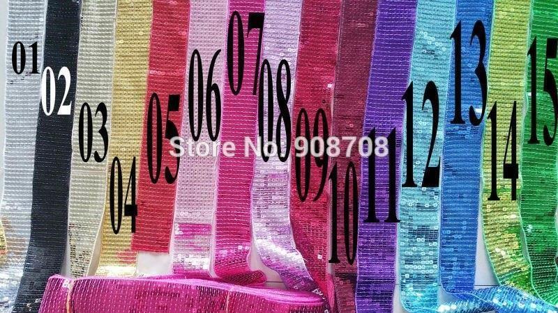 Aliexpress P002 Multicolor 9 Wiersz Cekinami Wstążka Wykończenia 10 Metrów Cekiny Wstążki Do Włosów Bow Taniec Sukienka Ceneopl