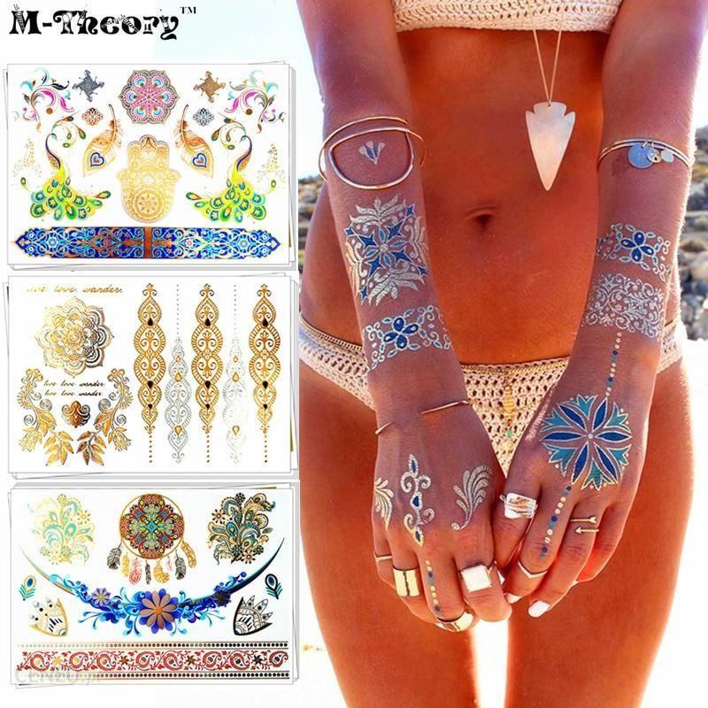 Aliexpress Zmywalny Tatuaż Metaliczny Dla Party Panny Młodej Kobiety Nastolatki Dziewczyny Diy Wedding Party Tymczasowe Tatuaże Migotać Brokat Biżuter