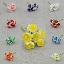 da09761634a63b AliExpress 60 sztuk/10 bundle tanie Symulacji róże Sztuczne kwiaty pianki  kwiat Ślub dekoracje Bride