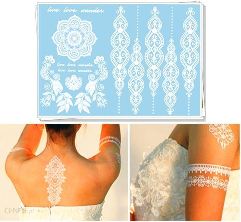 Aliexpress ślub Białe Koronki Makijaż Party Tymczasowy Tatuaż Naklejki Bride Groom ślub Zaręczynowe Body Art Akcesorie Ceneopl