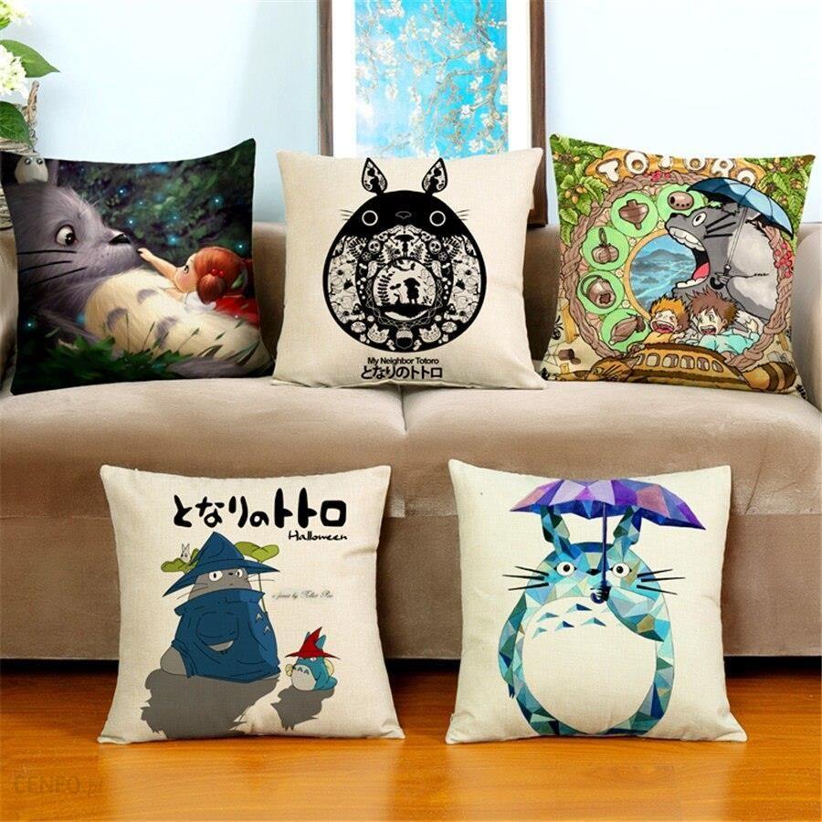 Aliexpress Pokrywa Poduszki Dekoracyjne Tanie Housses De Coussin Papiernicze Cartoon Totoro Aksamitne Obicia Na Poduszki Na Kanapie Skyway 45x45 Cm No