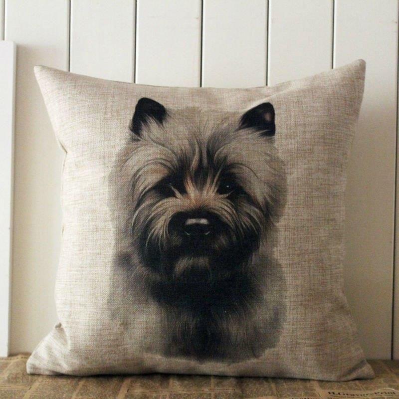 Aliexpress Linkwell 18 X 18 światowej Sławy Pies Norwich Terrier Rasa Standardowy Jutowe Poduszki Dekoracyjne Poszewka Na Poduszkę Poszewka Ochrania