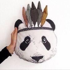 Aliexpress Faroot Wypchane Zabawki Dla Dzieci Cute Cartoon Rozkładana Sofa Poduszki Dekoracyjne Indian Panda Poduszki Zwierząt Lalki Prezent Gorąca Sp