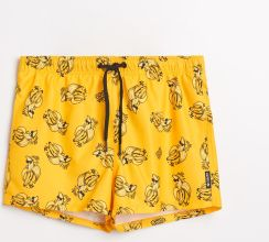 900ee2e4a0ab03 Cropp - Szorty kąpielowe z nadrukiem - Żółty ...