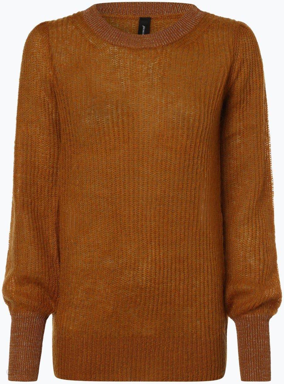 3a13517942b1f8 soyaconcept® - Sweter damski z dodatkiem moheru, żółty - zdjęcie 1