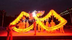 74dc6488383352 AliExpress 10 M 6 dorosłych Żółty SMOK TANIEC jedwabiu Ludowa oświetlacz  Festiwal strona shool Strój sportowy