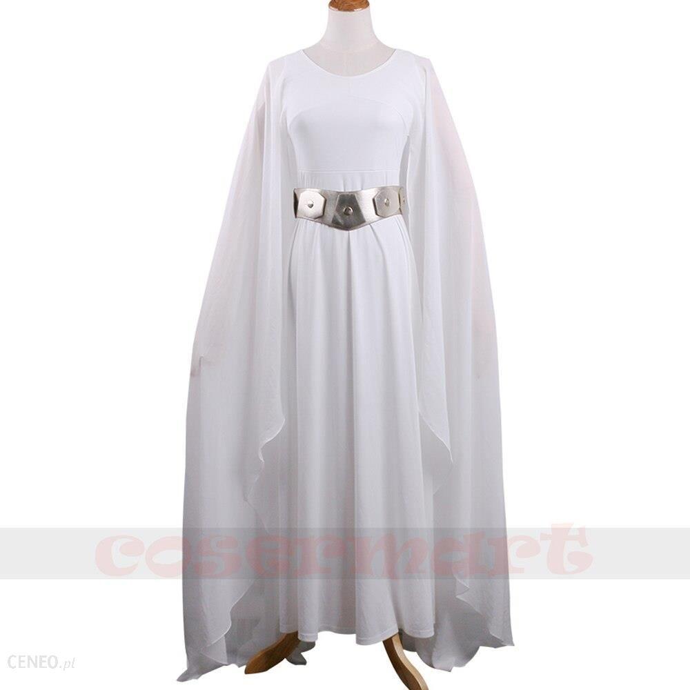 AliExpress New Star Wars Leia Kostium Biała Sukienka Cosplay Kostium Dla Dorosłych Kobieta Z Pasem Halloween Party Ceneo.pl