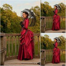 96a0fab60e49af AliExpress Klient zamówić! 19 Century Czerwone Rocznika Stroje Suknia Ball  Suknia Civil War Scarlett Wiktoriańska