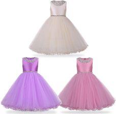 7e0b306549 AliExpress Księżniczka Flower Girl Dress Lato 2018 Tutu Ślub Birthday Party  Sukienki Dla Dziewczynek dzieci Kostium