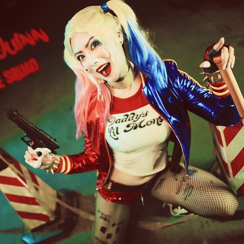 Aliexpress Harley Quinn Cosplay Kostium Kobiety Joker Sexy Płaszcz Wierzchni Halloween Karnawał Ubrania Imprezowe Cosplay Custom Made Dorosłych Ceneo Pl