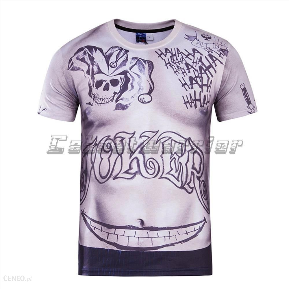 Aliexpress Nowy Samobójstwo Squad Mężczyźni 3d Print T Shirt Harley Quinn Joker Tatuaż Deadshot Koszule Męskie Bumerang Sexy Unisex Loose Tee