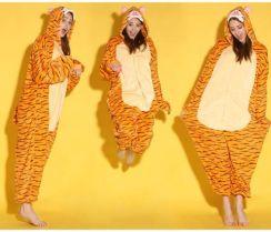 acfcb099e15787 AliExpress Hurtownie Cartoon Zwierząt Onesies Skoki Tigger Onesie Piżama  Kombinezon Bluzy Piżamy dla Dorosłych na Halloween