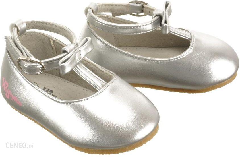 8e230344 Zdjęcie WOJTYŁKO 1BA1278 srebrny, czółenka baleriny dziecięce, rozmiary:  18-22 - Srebrny