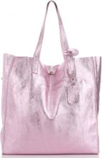 e046147b1ad0f Włoskie Torebki Skórzane typu shopperbag marki Vera Pelle Różowe (kolory)  ...