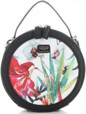 a8ebf573dd9e0 Okrągłe Torebki Listonoszki w Tropikalne wzory firmy David Jones Multikolor  Czarna (kolory) ...