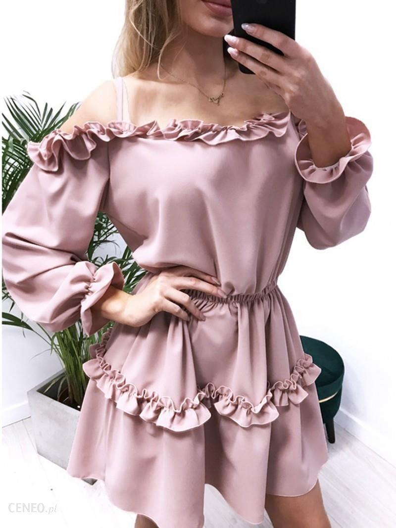 c9f97e61d00165 Magmac Kobieca mini sukienka z falbankami MARIETTA - Ceny i opinie ...