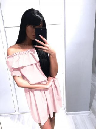 c5639ddbae984c Magmac Kobieca sukienka z falbanką DINA