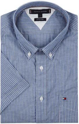 3fd189a0a2934 Tommy Hilfiger Koszula casualowa o kroju slim fit z mieszanki bawełny i lnu