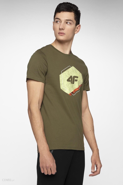 6333a128f 4F T-shirt męski TSM010 - khaki - Ceny i opinie - Ceneo.pl