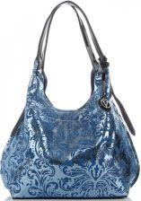 89ac06f81677a Modna Torebka Skórzana Włoski ShopperBag XL w oryginalne wzory firmy Velina  Fabbiano Granatowa (kolory) ...