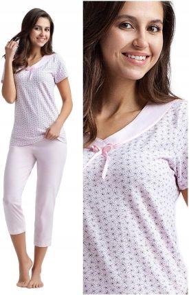 0591a72aa7846a piżama damska Luna 439 różowy bawełna - L 40