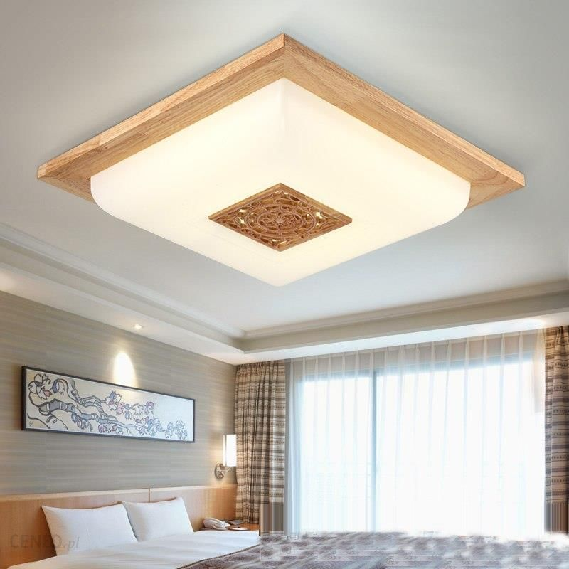 Aliexpress Led Koreański Drewniane Akrylowe Rzeźbione Dioda Led Lampy światła Lampy Sufitowe Lampy Sufitowe Oświetlenie Sufitowe Led Dla Przedpokój Ba