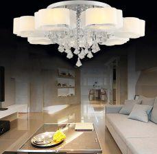 Aliexpress Lampa Led E27 Nowoczesne Ze Stali Nierdzewnej Crystal Led Led Light Lampy Sufitowe Oświetlenie Sufitowe Led Sufit Lampa Dla Przedpokój