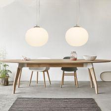 Aliexpress Nowoczesny Wisiorek światła Globe Szkło Lampa Wisząca Dla Kuchnia Salon Rooom Oprawy Oświetleniowe Biały Ball Wiszące Lampy