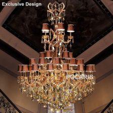 AliExpress Hotel Lobby Żyrandole Żyrandol Maria Teresa Kryształowy Duży Luksusowy Klasyczne Wiszące Oświetlenie Domu Lampy Światła z Kryształów K9