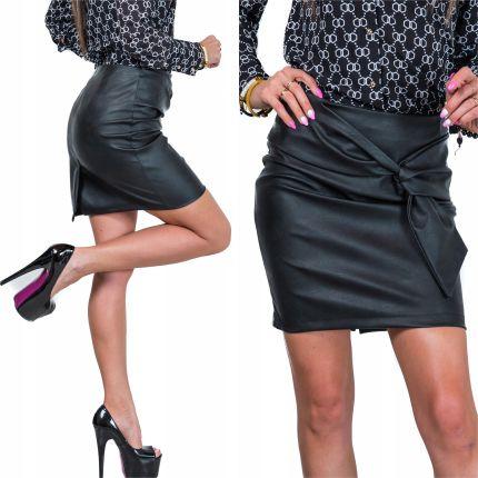 68db627a Mohito - Spódnica mini z ekologicznej skóry - Czarny - Ceny i opinie ...